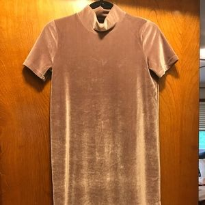 Madewell Dresses - Mauve Madewell Velvet mock neck Dress